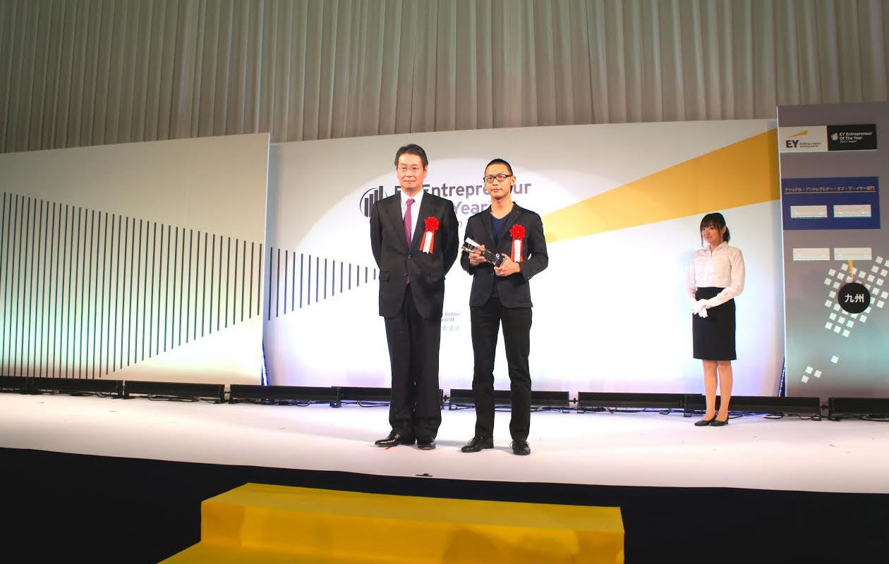 EY Entrepreneur Of The Year 2014 Japan Challenging Spirit 部門ファイナリストとして、当社代表須田が表彰されました1。width=